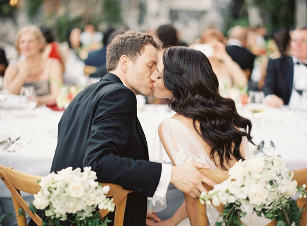 Wedding Reception Kiss