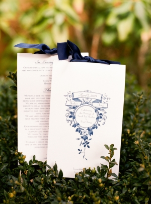 Wedding Stationery With Navy Crest