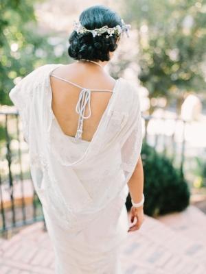 White Lace Wedding Sari