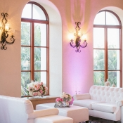 White Lounge Area at Wedding