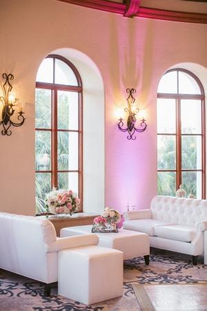 White Lounge Area at Wedding