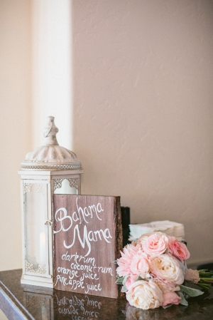 White Painted Wood Wedding Sign