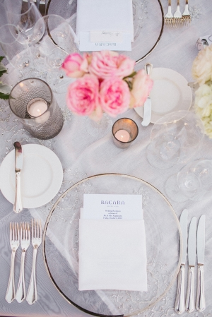 White and Pink Tabletop