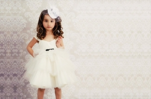 Ivory Once Upon a Time Flower Girl Tulle Dress