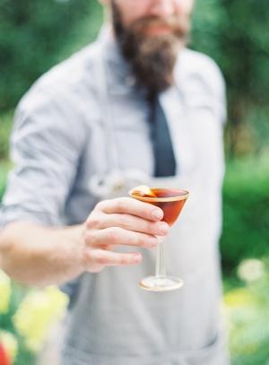 Bartender Mixing Wedding Cocktail