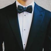 Black and White Polka Dot Bow Tie