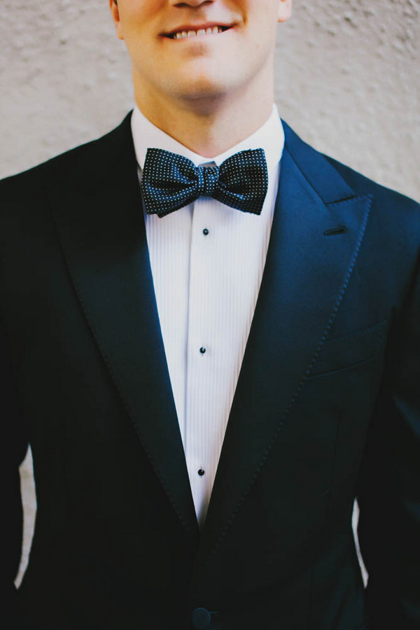 Black and White Polka Dot Bow Tie