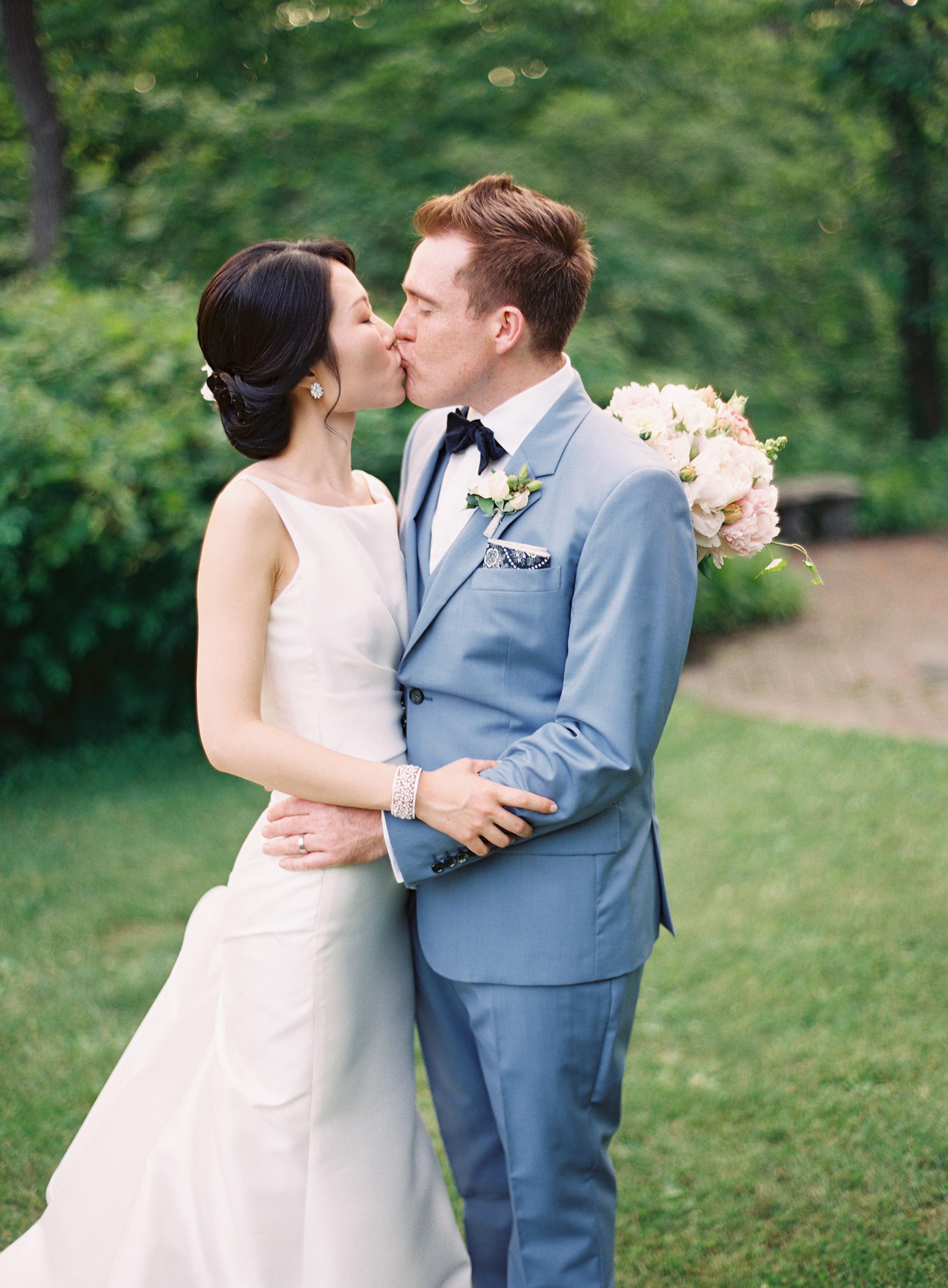 Blue Suit Grooms Attire - Elizabeth Anne Designs: The Wedding Blog