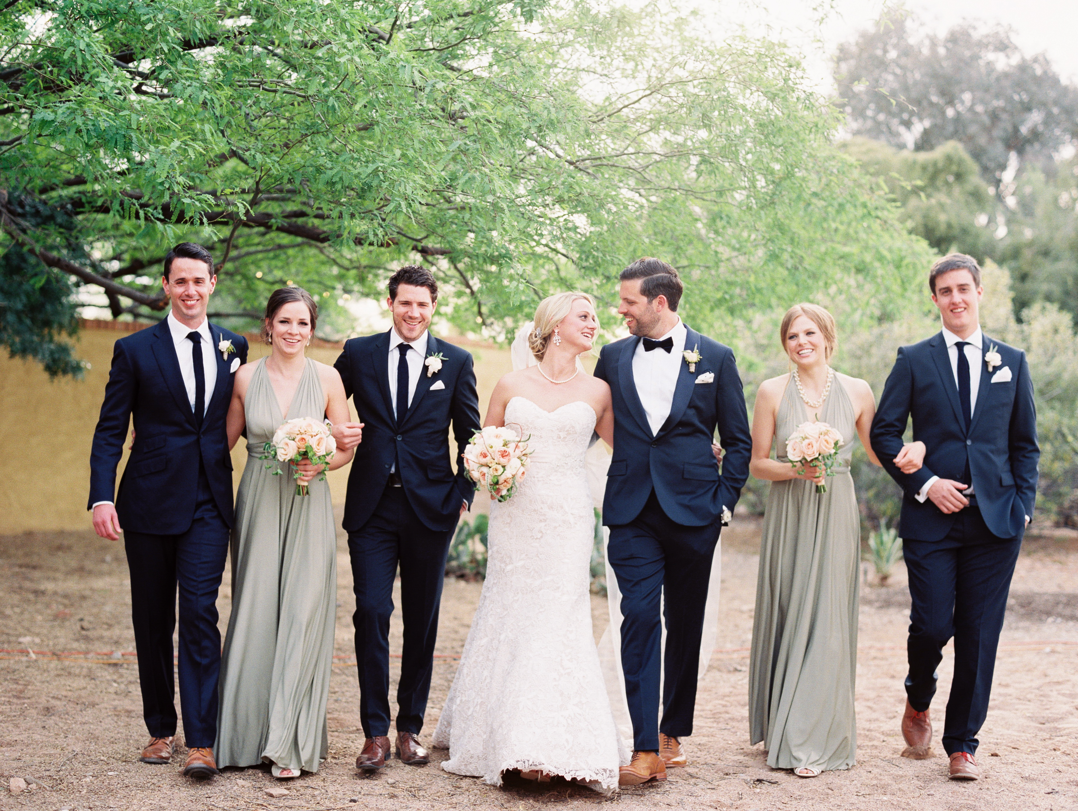 Blue Wedding Party Suits And Silver Elizabeth Anne Designs