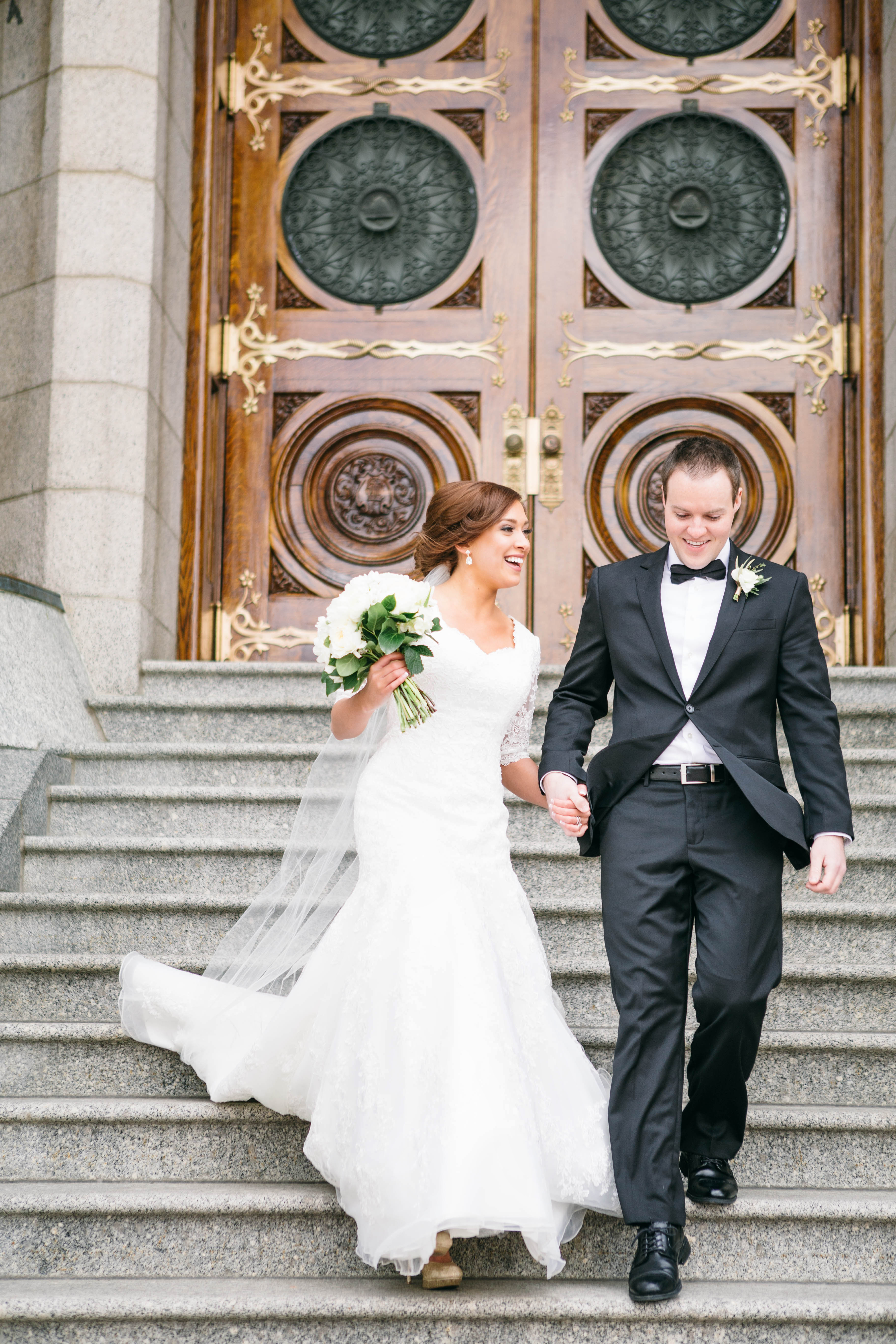 Bridal Gown With Lace Sleeves - Elizabeth Anne Designs: The Wedding Blog