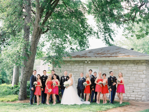 Bridal Party in Pink and Red