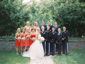 Bridal Party in Red
