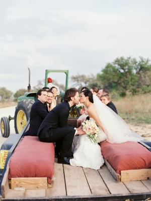 Bridal Party in Tractor Pull