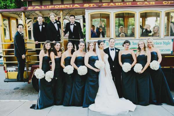Bridal Party on Cable Car