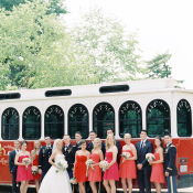 Bridal Party with Trolley