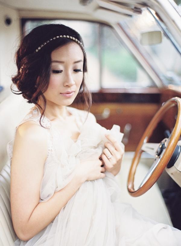 Bride Vintage Car