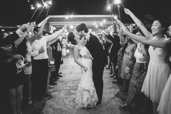 Bride and Groom Sparkler Exit