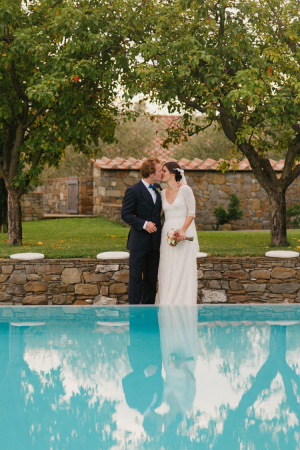 Bride and Groom in Italian Countryside