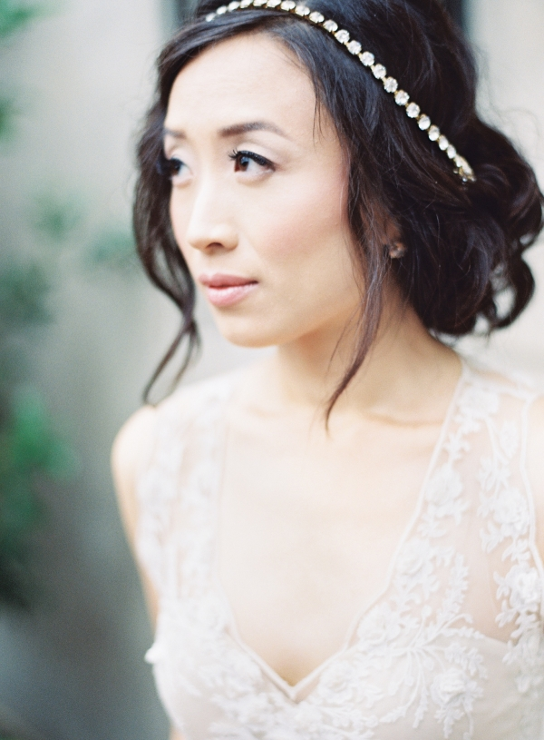Bride in Crystal Headpiece