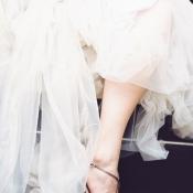 Bride in T Strap Heels