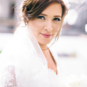 Bride with Lace Veil