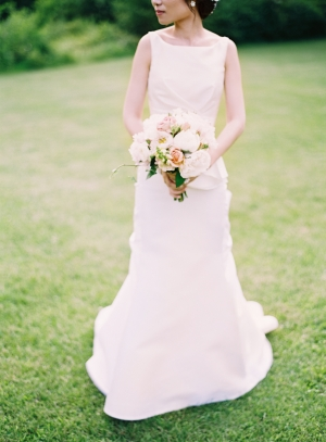 Bride with Pale Pink Bouquet