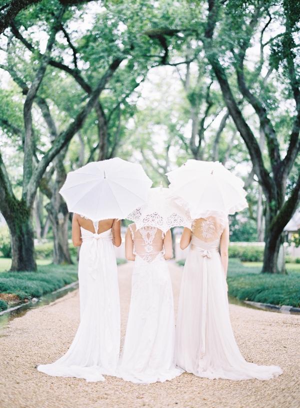 Brides with Parasols