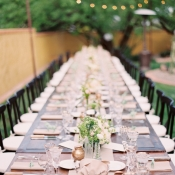 Brown Green Gold Wedding Table
