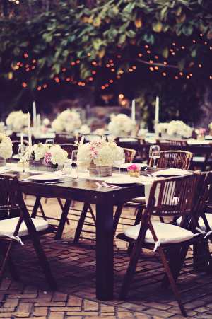 Brown Reception Tables