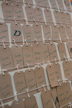 Brown Tag Escort Cards