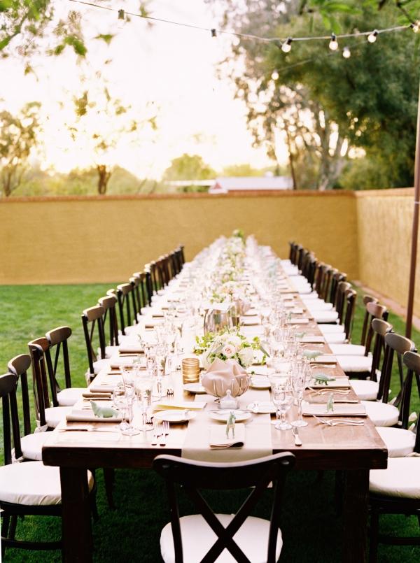 Brown Wood Estate Table