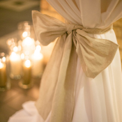 Burlap Bow Linen Decor