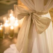 Burlap Bow Linen Decor