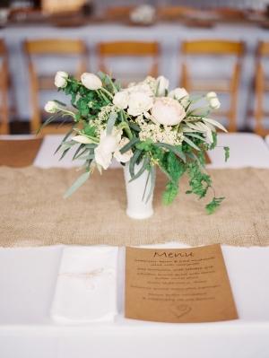Burlap Table Runner Reception Decor