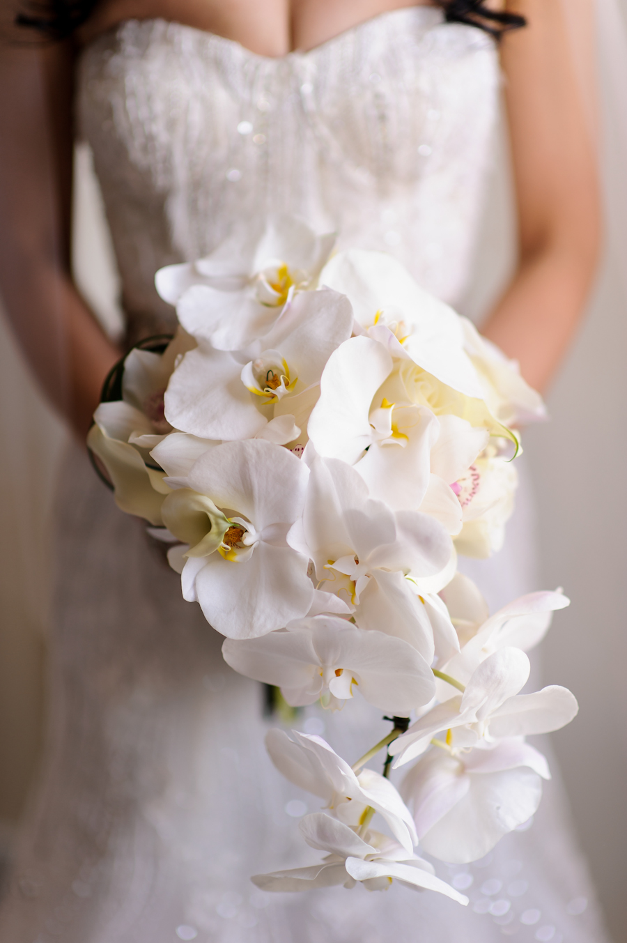 Cascading Orchid Bouquet Elizabeth Anne Designs The