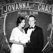 Chalkboard Wedding Backdrop