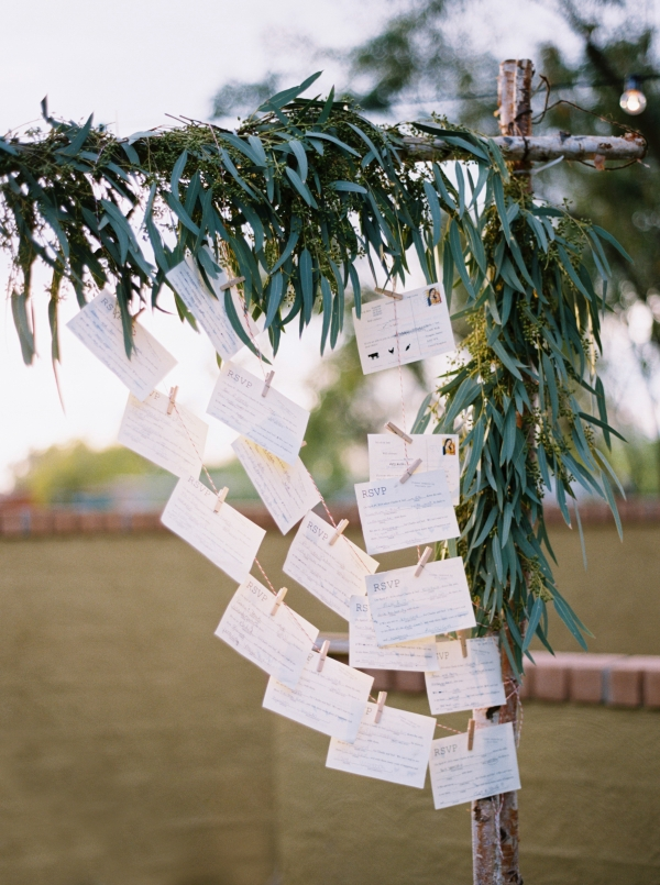 Clothespin Guest Book