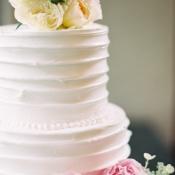 Combed Icing on Wedding Cake