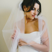 Contemporary Strapless Bridal Gown