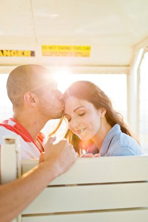 Couple on Ferris Wheel