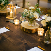 Earthy Elegant Reception Table Decor