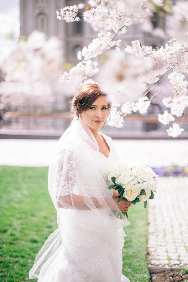 Elegant Bridal Portrait From Shannon Elizabeth Photography