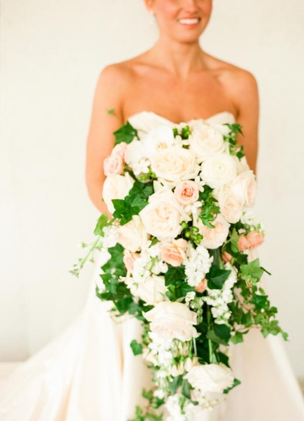 Elegant Cascading Bouquet By Agnew Florist