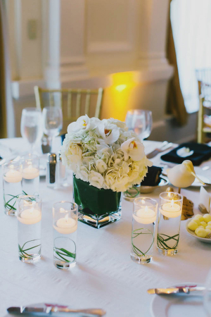 Elegant White Reception Florals