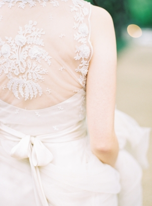 Embroidered Back Wedding Gown