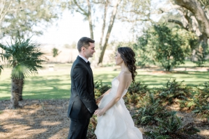 First Look Charleston Wedding