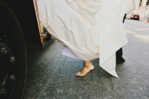 Gold Manolo Blahnik Heels