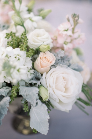 Gray and Peach Wedding Flowers