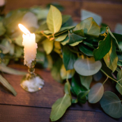Greenery Garland Reception Table Ideas
