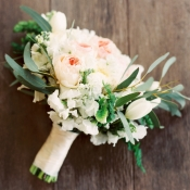 Greenery and Rose Bridal Bouquet